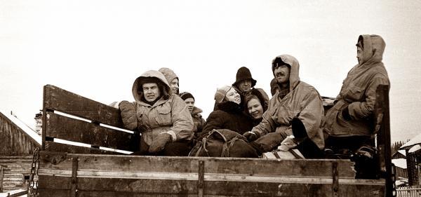 группа Дятлова в полном составе на Газ 63 - на Северный 2