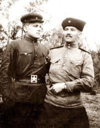 Семен Золотарев с другом после окончания ВОВ