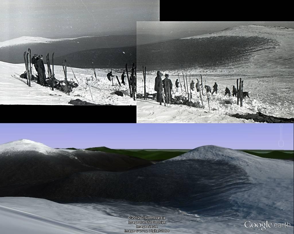Приблизительные место обнаружения палатки (+-50м) группы Дятлова