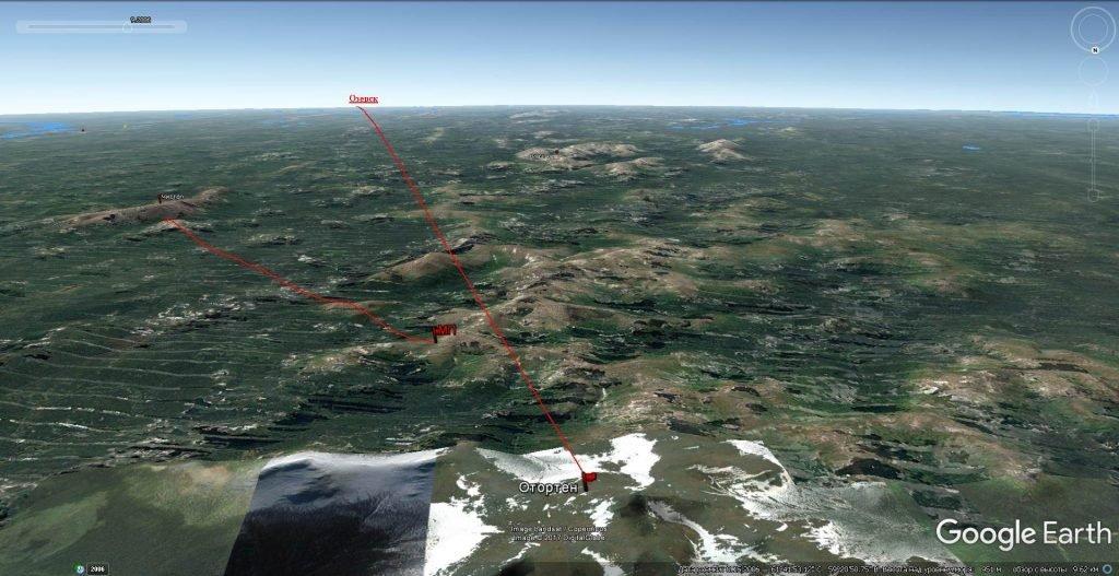 Траектория полета светящихся шаров