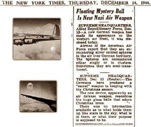 Огненные шары в   Нью Йорк таймс