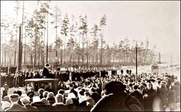 Похороны участников группы Дятлова