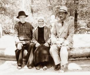Семен Золотарев с родителями на Кавказе