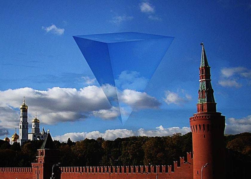 пирамидальный НЛО над Кремлём